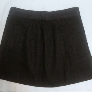 J. Crew Wool Blend Mini Skirt Size 8 Charcoal